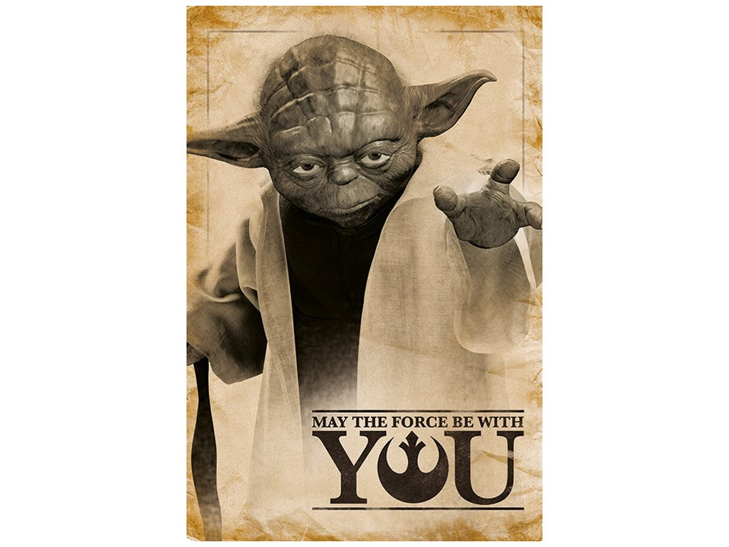 PLAKÁT 61 x 91,5 cm|STAR WARS  YODA|MAY THE FORCE BE WITH YOU