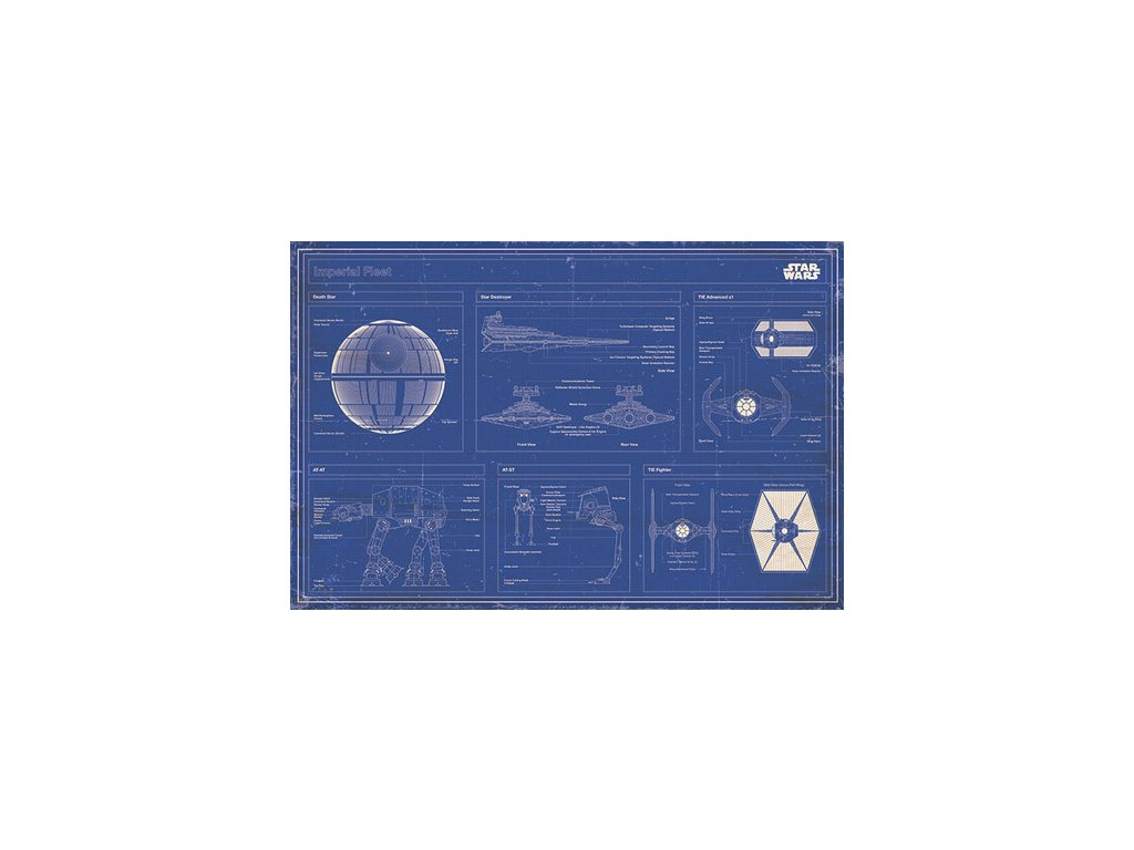 PLAKÁT 61 x 91,5 cm|STAR WARS  IMPERIAL FLEET|C