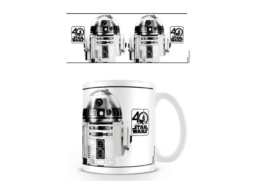 HRNEK KERAMICKÝ|STAR WARS  315 ml|R2-D2|BÍLÝ