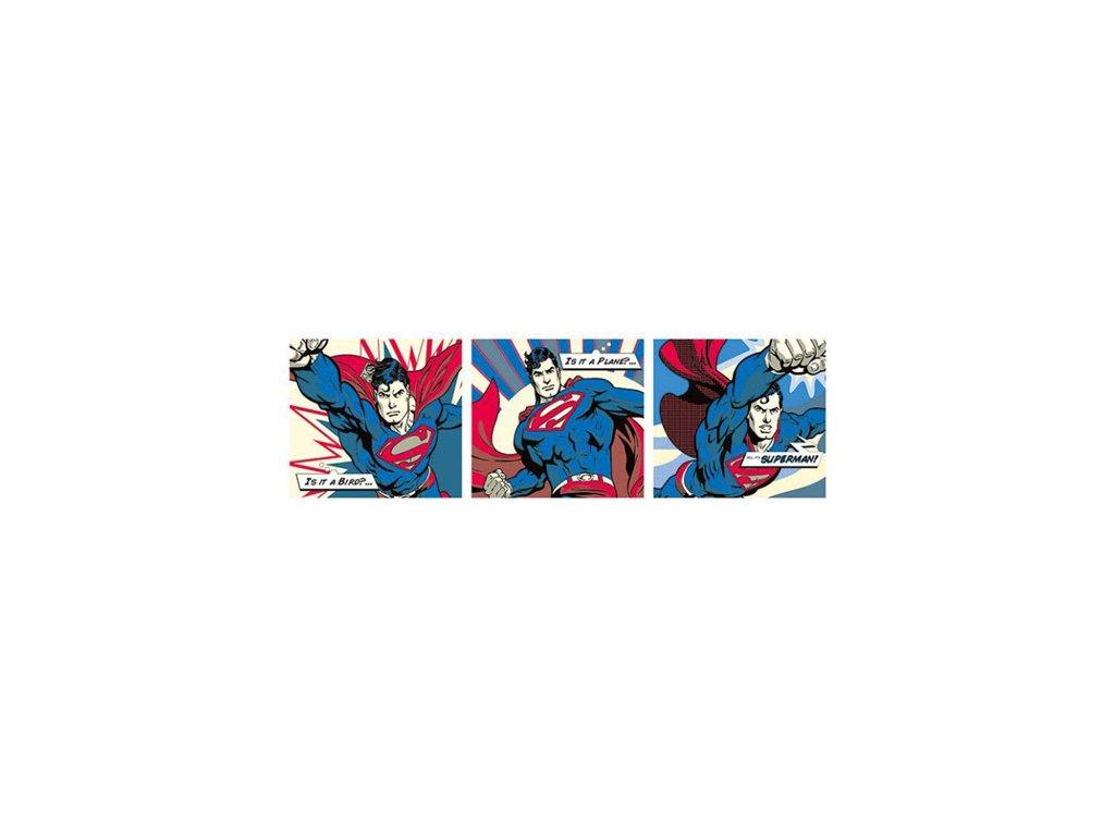 PLAKÁT 53 x 158 cm  SUPERMAN|POP ART TRIPTYCH