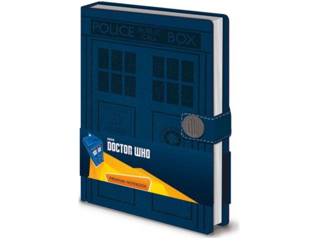 BLOK|ZÁPISNÍK A5|PREMIUM  DOCTOR WHO|TARDIS|120 stran