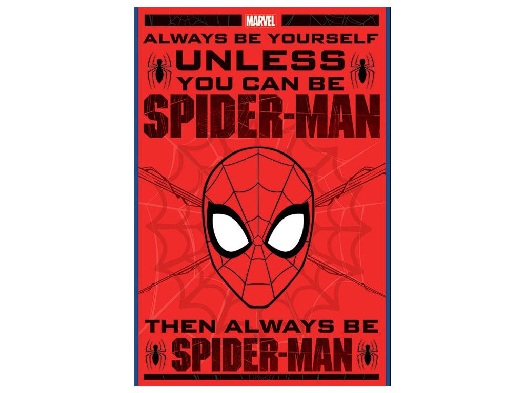 PLAKÁT 61 x 91,5 cm|MARVEL  SPIDERMAN|ALWAYS BE YOURSELF|C