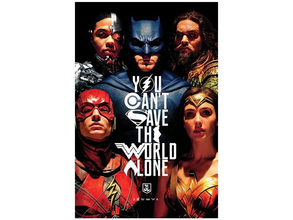 PLAKÁT 61 x 91,5 cm|DC COMICS  JUSTICE LEAGUE|SAVE THE WORLD|C
