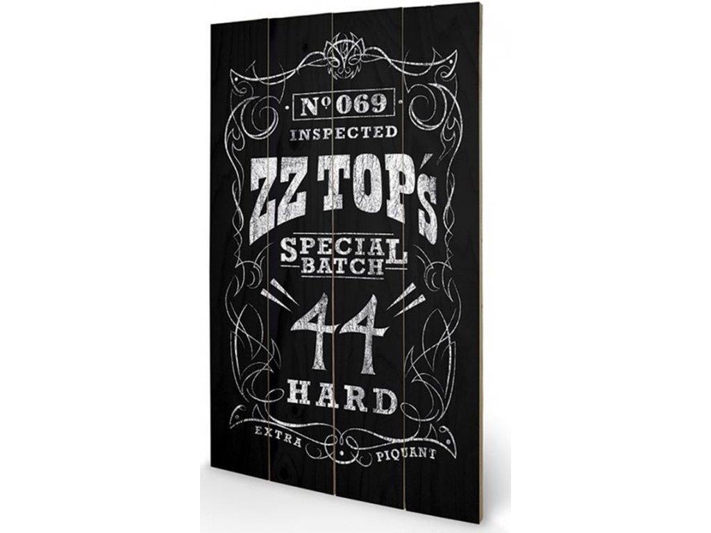 OBRAZ|MALBA NA DŘEVĚ 45 cm x 76 cm  ZZ TOP|SPECIAL BATCH