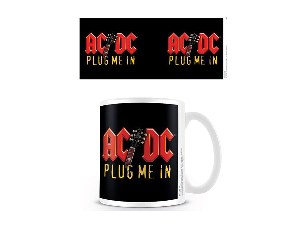 HRNEK KERAMICKÝ|AC/DC  315 ml|PLUG ME IN|BÍLÝ