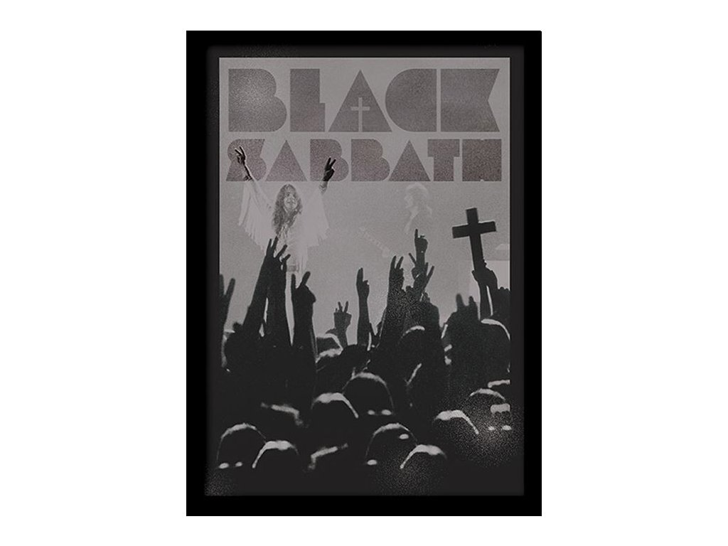 PLAKÁT V RÁMU 30 x 40 cm  BLACK SABBATH|CROSS