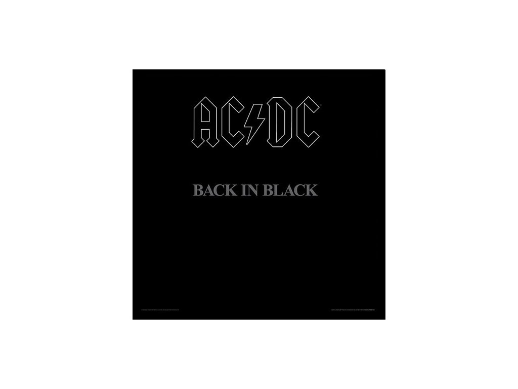 PLAKÁT V RÁMU 31,5 x 31,5 cm  AC/DC|BACK IN BLACK