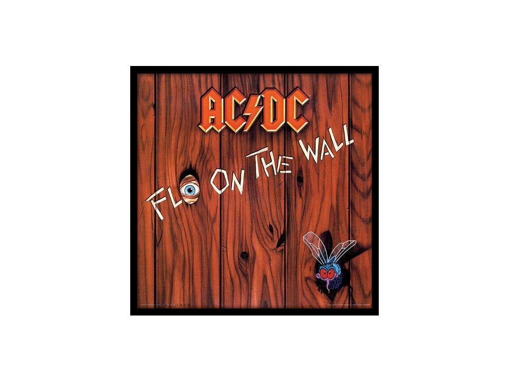 PLAKÁT V RÁMU 31,5 x 31,5 cm  AC/DC|FLY ON THE WALL