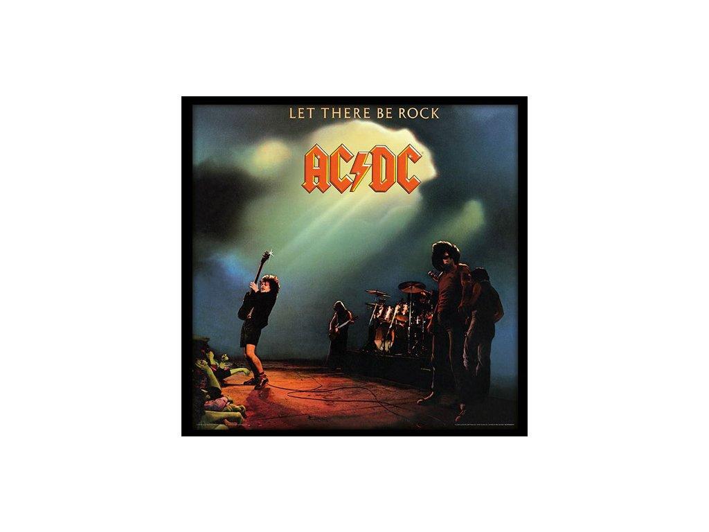 PLAKÁT V RÁMU 31,5 x 31,5 cm  AC/DC|LET THERE BE ROCK
