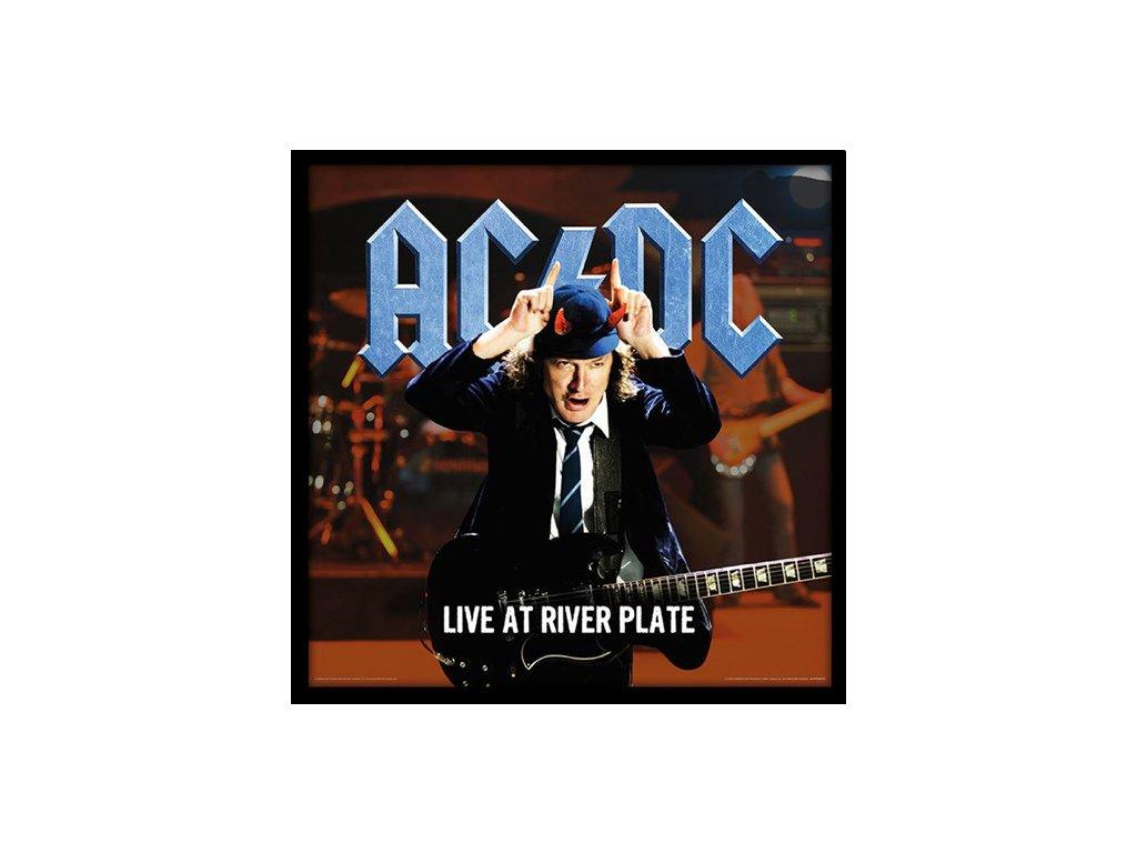 PLAKÁT V RÁMU 31,5 x 31,5 cm  AC/DC|LIVE AT RIVER PLATE