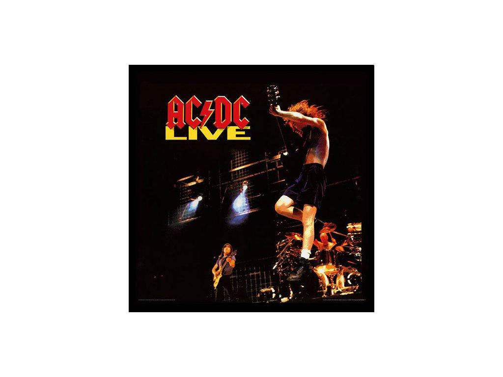 PLAKÁT V RÁMU 31,5 x 31,5 cm  AC/DC|LIVE