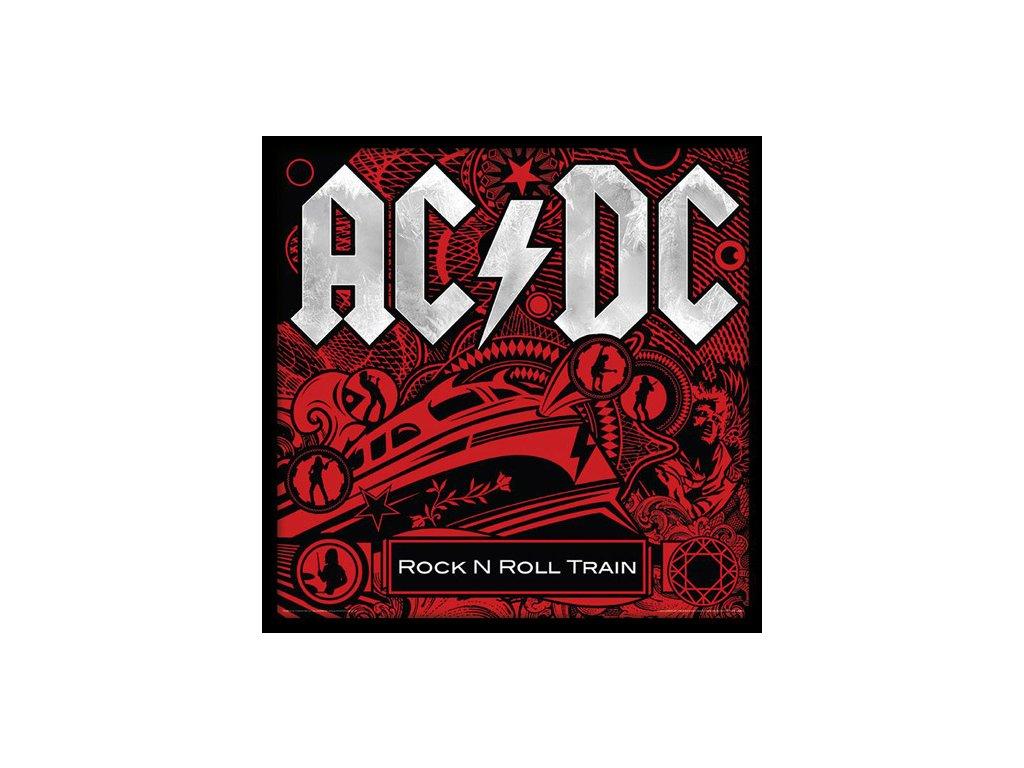 PLAKÁT V RÁMU 31,5 x 31,5 cm  AC/DC|ROCK N ROLL TRAIN