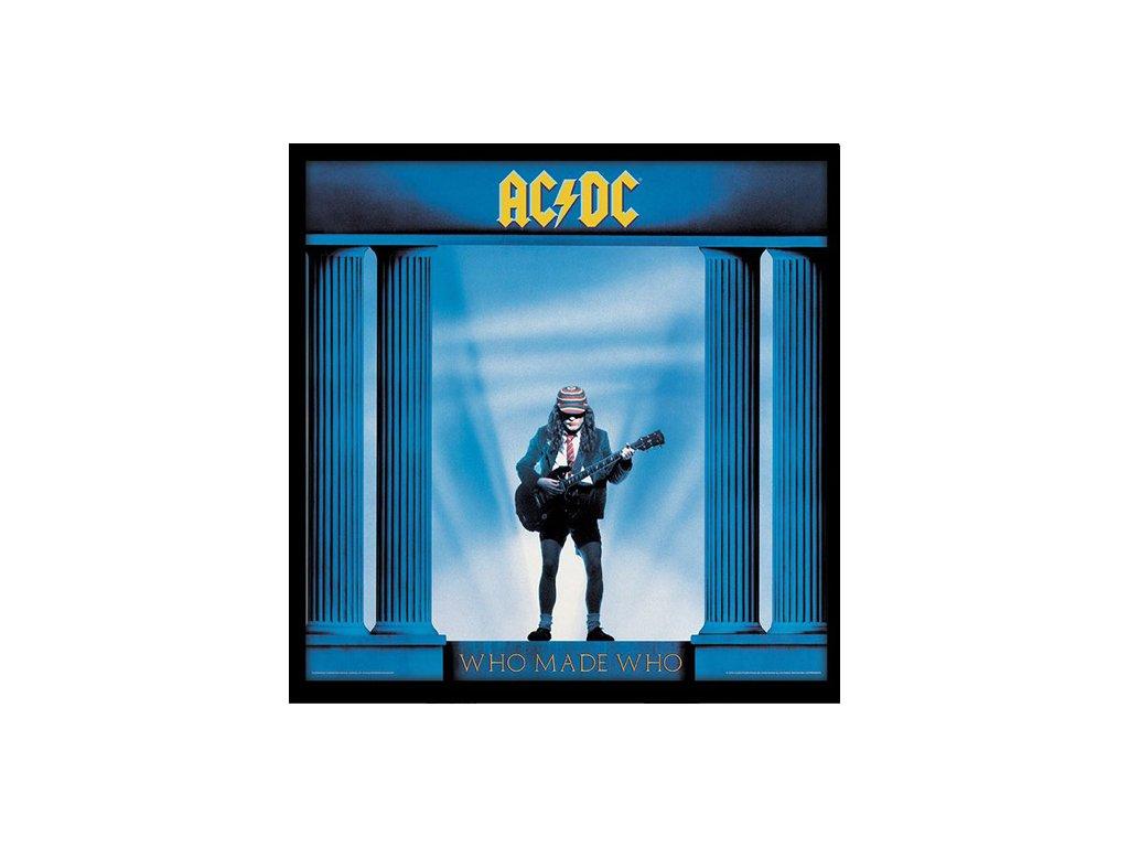 PLAKÁT V RÁMU 31,5 x 31,5 cm  AC/DC|WHO MADE WHO