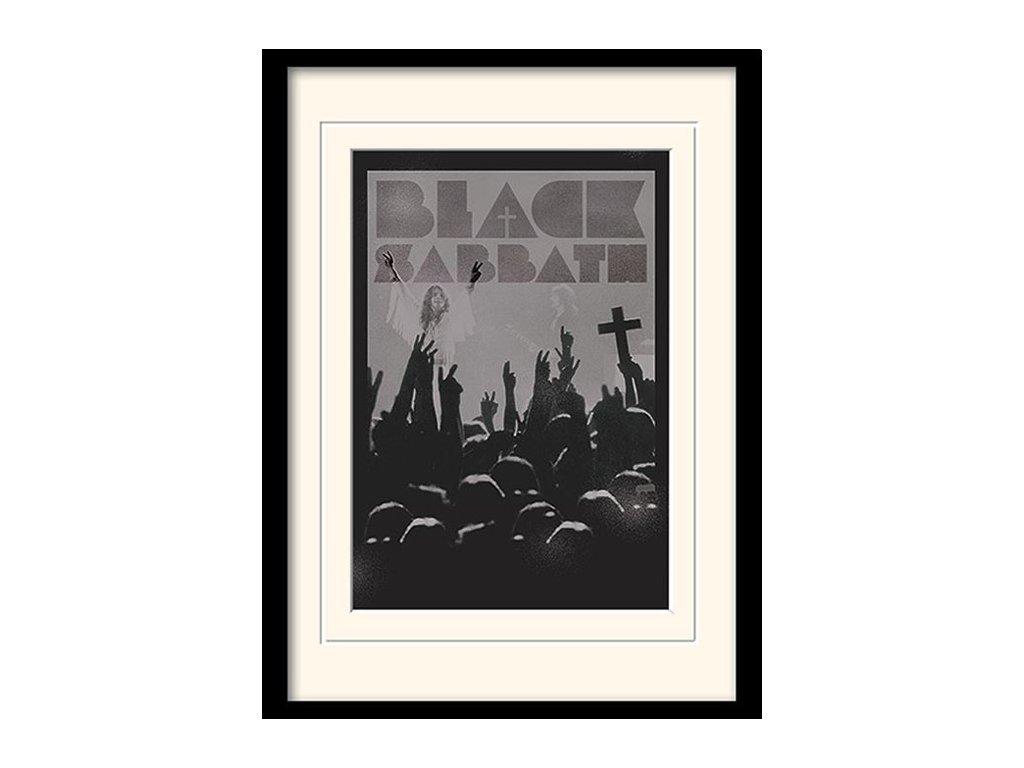 PLAKÁT V RÁMU 30 x 40 cm  BLACK SABBATH|CROSS