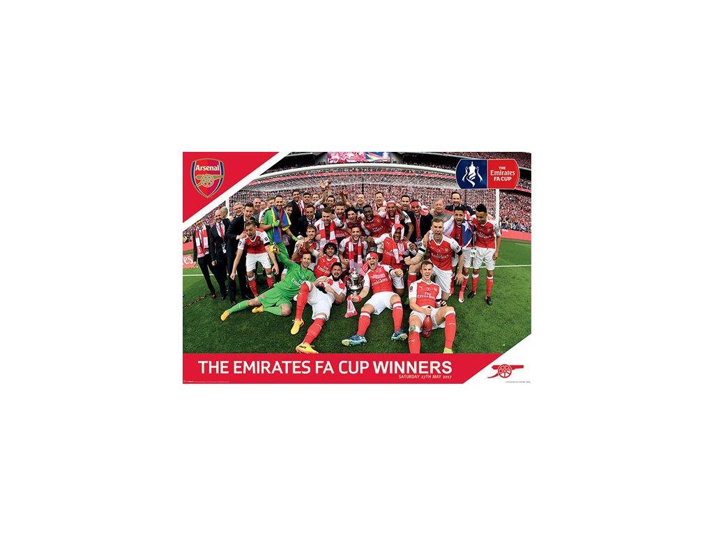 PLAKÁT 61 x 91,5 cm  ARSENAL|FA CUP WINNERS|61 x 91,5