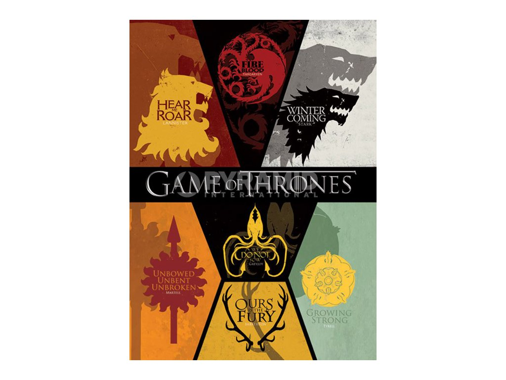 POHLEDNICE A6|10,5 cm x 14,7 cm  GAME OF THRONES|SET 10 KUSŮ