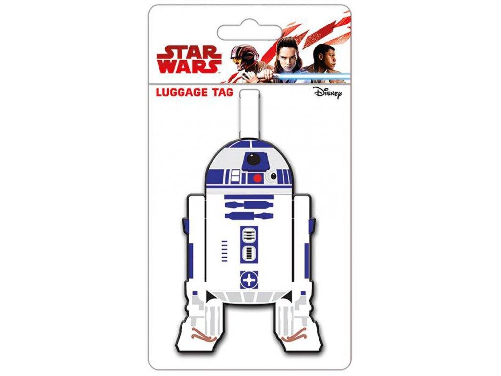 VISAČKA NA ZAVAZADLO|PRYŽOVÁ  10 x 18 cm|STAR WARS|R2-D2