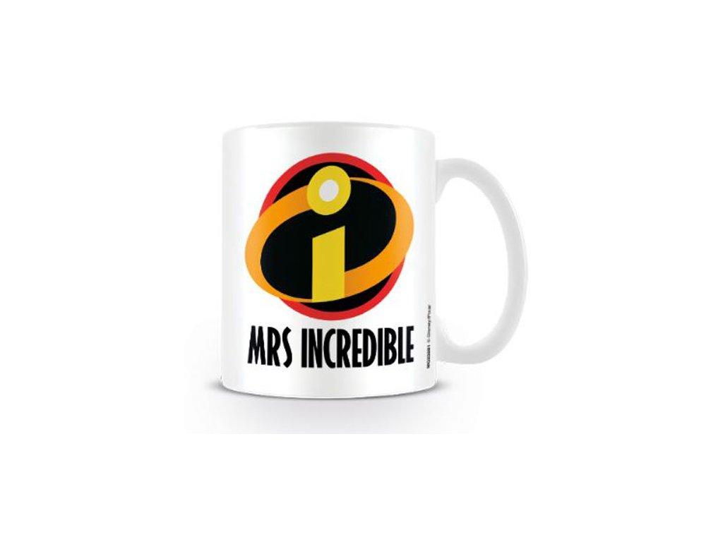 HRNEK KERAMICKÝ|INCREDIBLES 2  315 ml|MRS INCREDIBLE|BÍLÝ