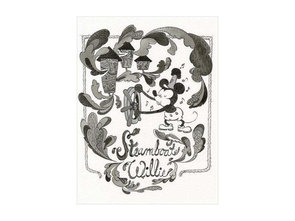 OBRAZ NA PLÁTNĚ CANVAS|30 x 40 cm  MICKEY MOUSE|STEAMBOAD WILLIE