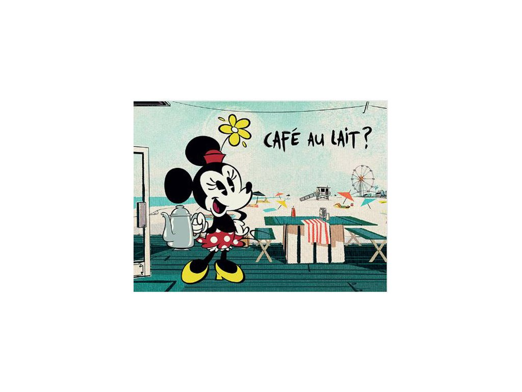 OBRAZ NA PLÁTNĚ CANVAS|30 x 40 cm  MICKEY SHORTS|CAFÉ AU LAIT?