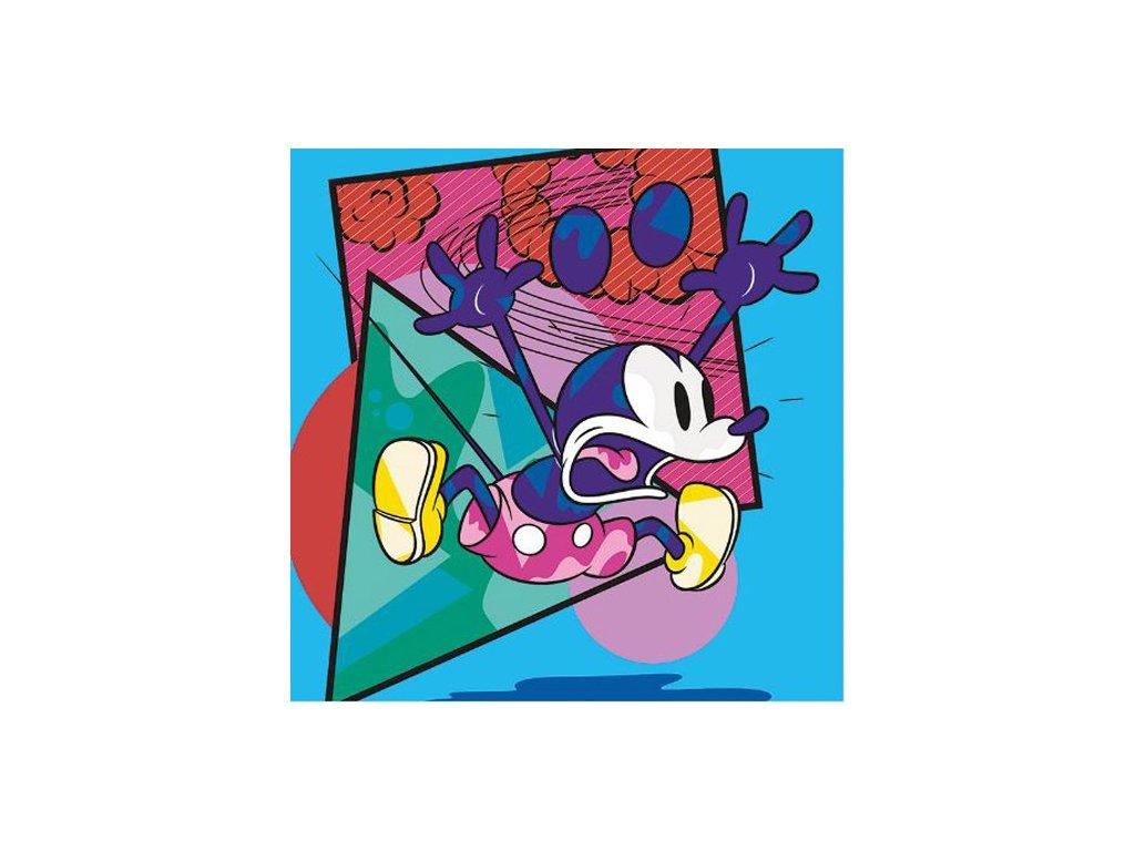 OBRAZ NA PLÁTNĚ CANVAS|40 x 40 cm  MICKEY MOUSE|POP SHOCK