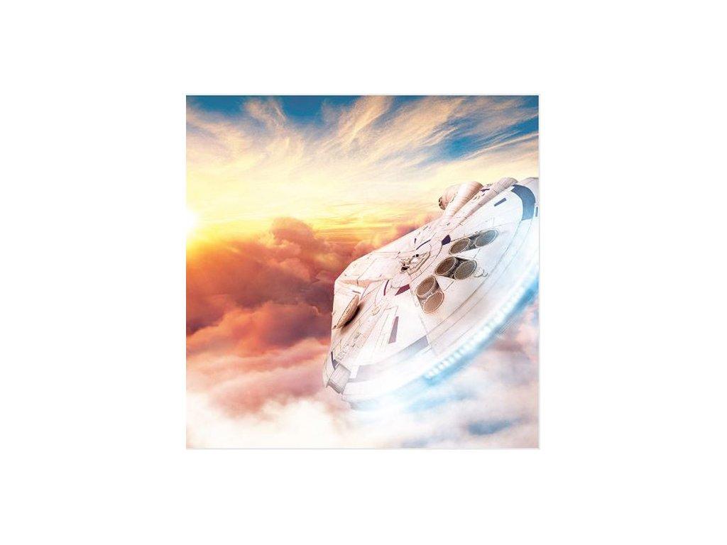 OBRAZ NA PLÁTNĚ CANVAS|40 x 40 cm  STAR WARS SOLO|MILLENNIUM SUNSET