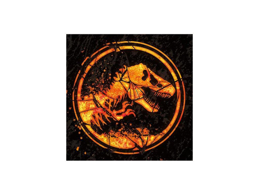 OBRAZ NA PLÁTNĚ CANVAS|40 x 40 cm  JURASSIC WORLD|FALLEN KINGDOM|LOGO