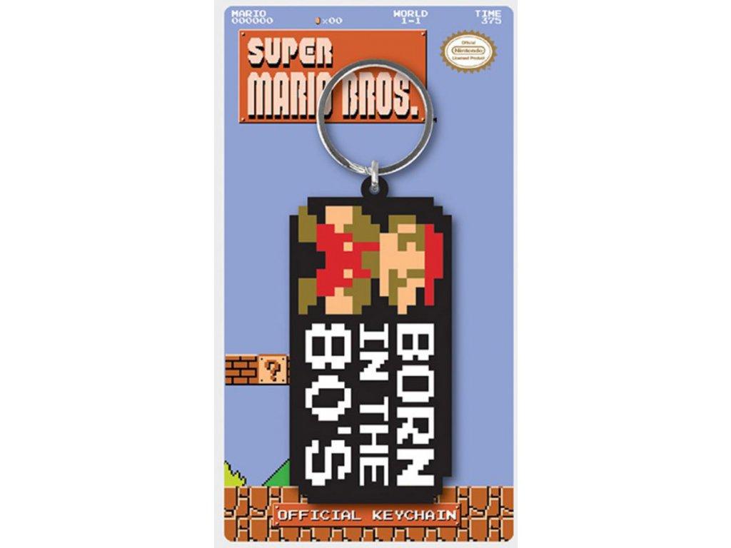 PŘÍVĚSEK NA KLÍČE|PRYŽOVÝ  SUPER MARIO|BORN IN THE 80
