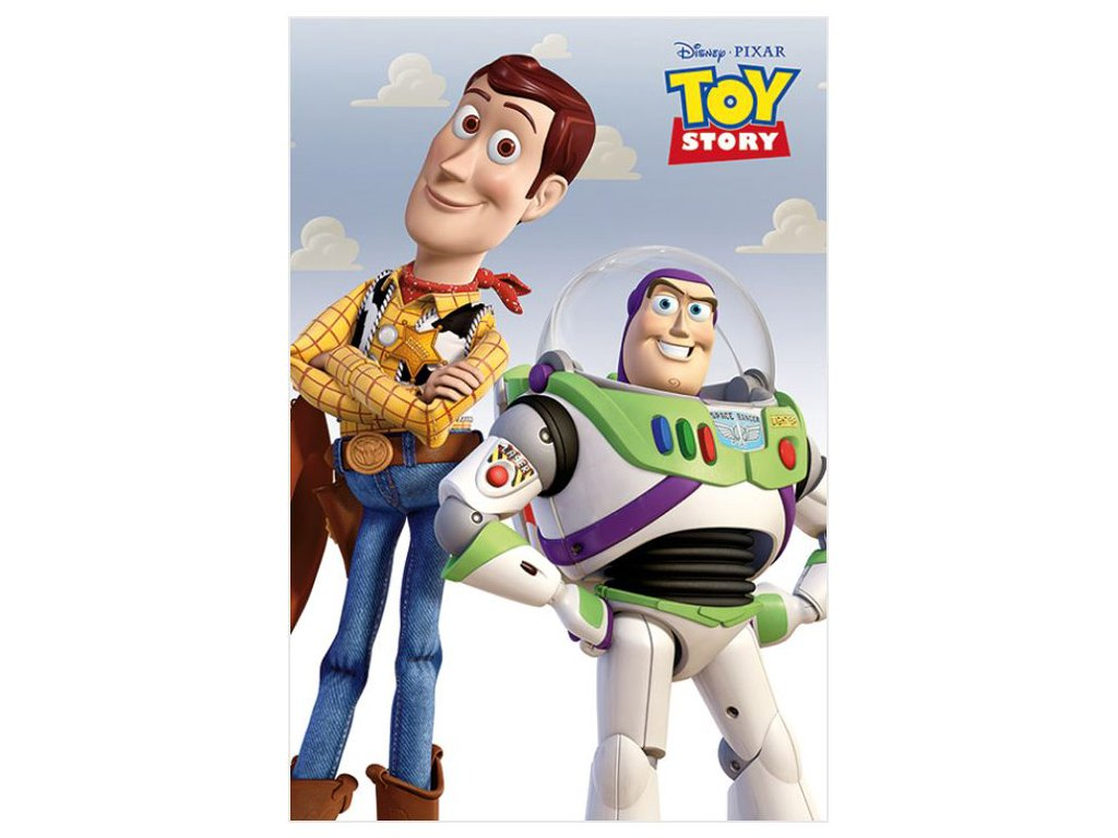 PLAKÁT 61 x 91,5 cm|DISNEY  TOY STORY|WOODY & BUZZ
