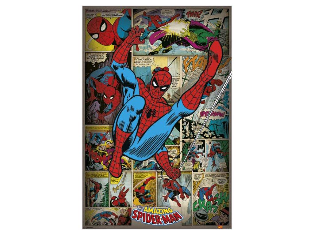 PLAKÁT 61 x 91,5 cm|MARVEL  SPIDERMAN|RETRO