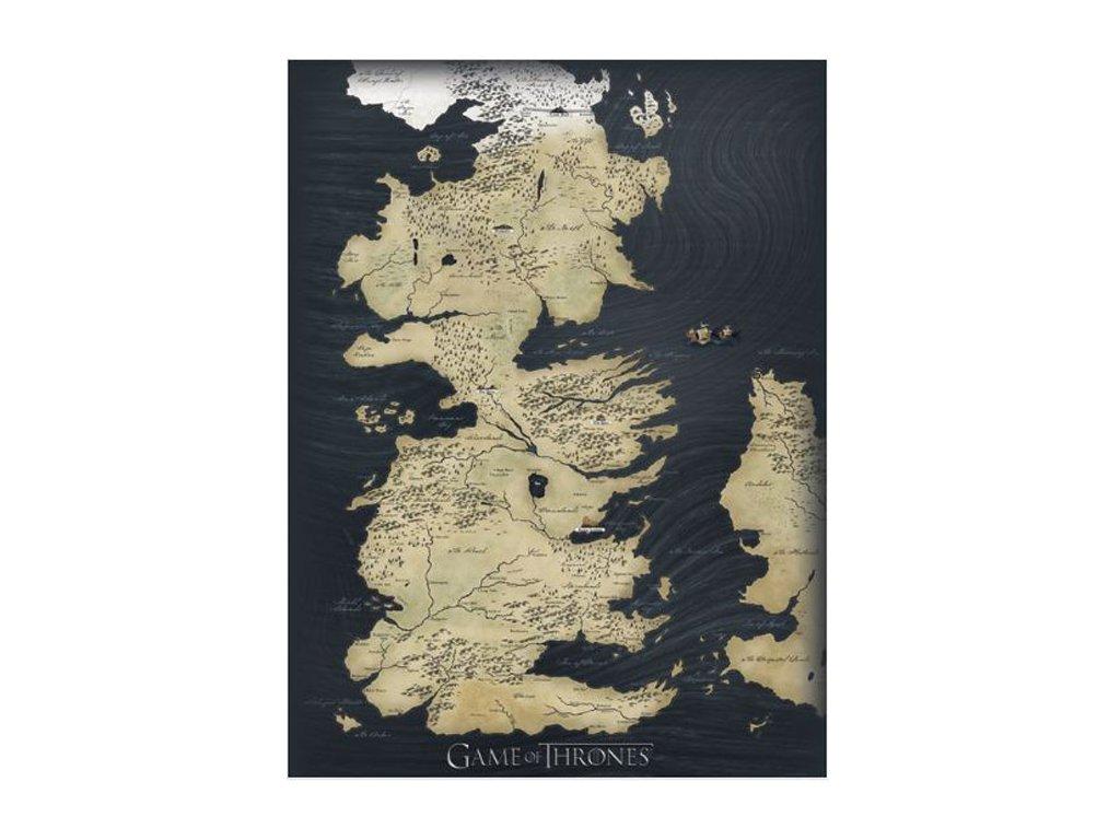 OBRAZ NA PLÁTNĚ CANVAS|30 x 40 cm  GAME OF THRONES|MAP
