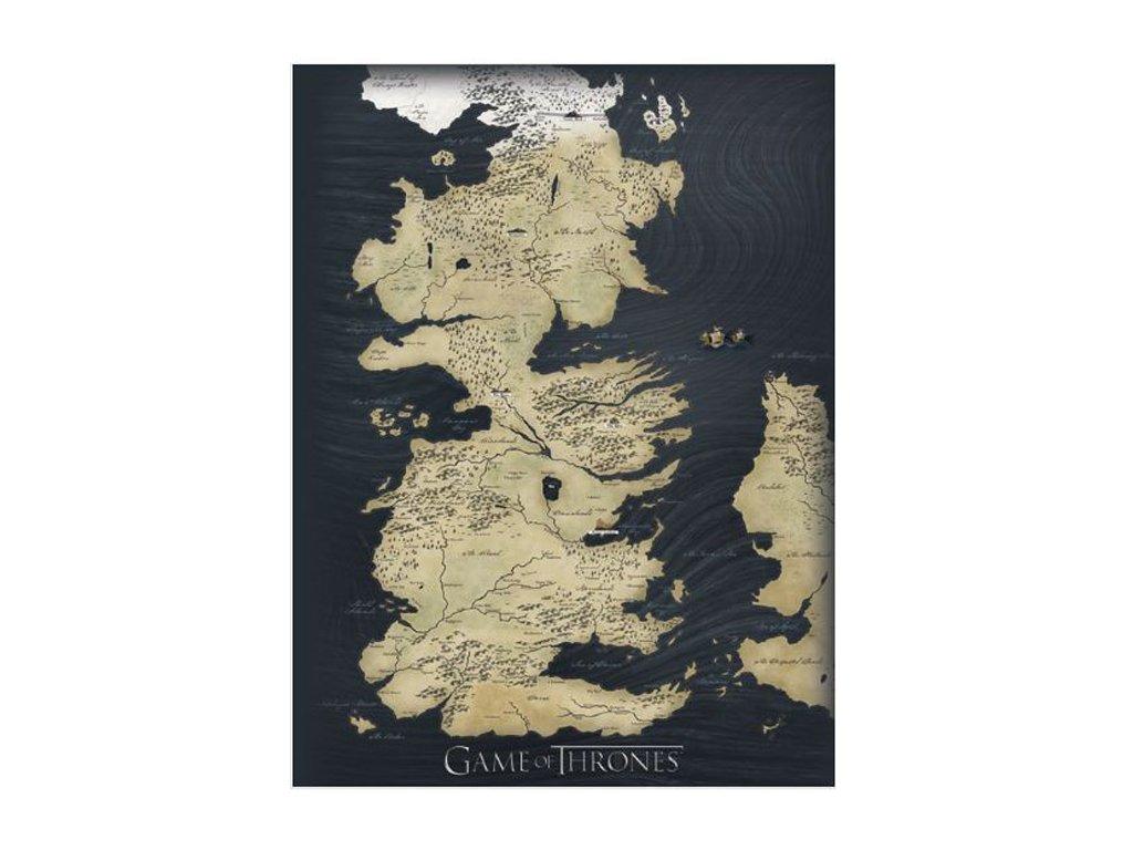 OBRAZ NA PLÁTNĚ CANVAS 60 x 80 cm  GAME OF THRONES MAP
