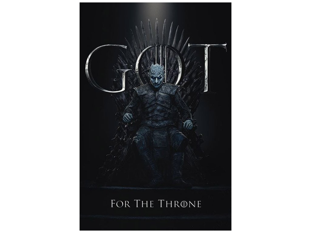 PLAKÁT 61 x 91,5 cm GAME OF THRONES  THE NIGHT KING FOR THE THRONE