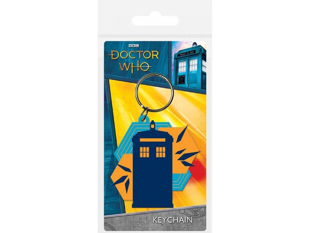 PŘÍVĚSEK NA KLÍČE|DOCTOR WHO  TARDIS SHAPES|5 x 6 cm