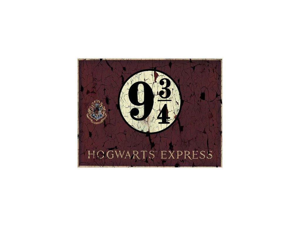OBRAZ NA PLÁTNĚ CANVAS 30 x 40 cm  HARRY POTTER HOGWARTS EXPRESS 9 3 4