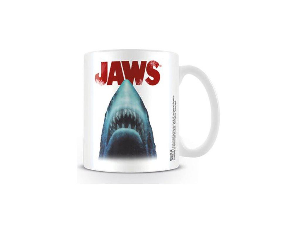 HRNEK KERAMICKÝ|JAWS  315 ml|SHARK HEAD|BÍLÝ