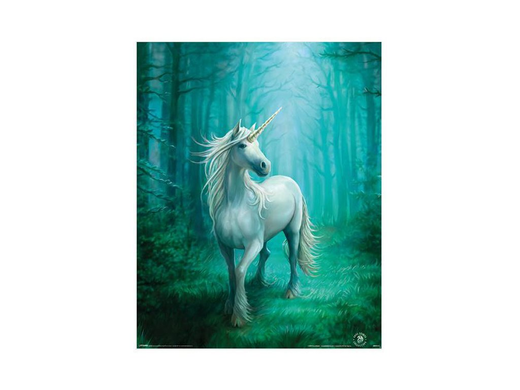 PLAKÁT 40 x 50 cm  ANNE STOKES|FOREST UNICORN