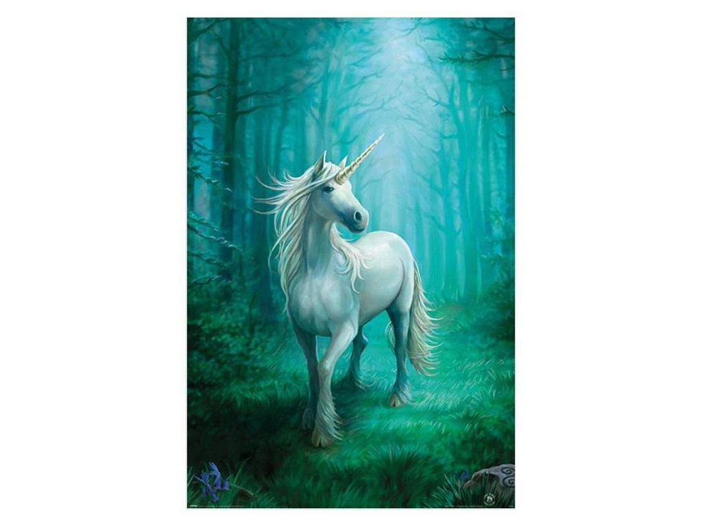 PLAKÁT 61 x 91,5 cm  ANNE STOKES|FOREST UNICORN