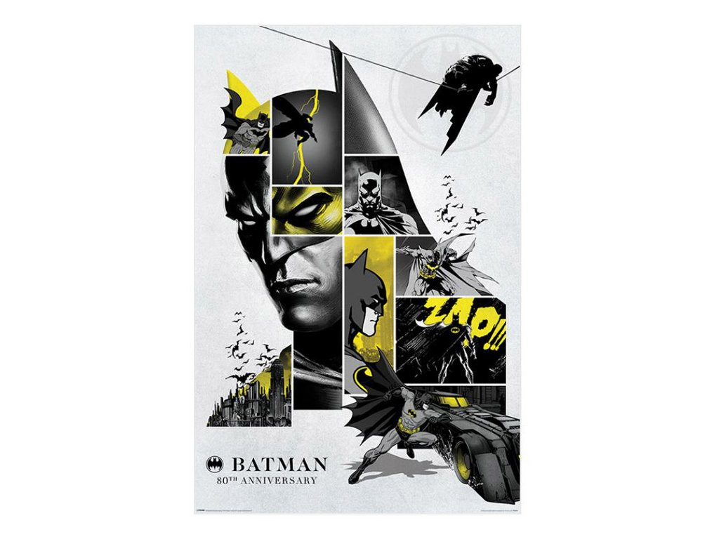 PLAKÁT 61 x 91,5 cm|DC COMICS  BATMAN|80th ANNIVERSARY