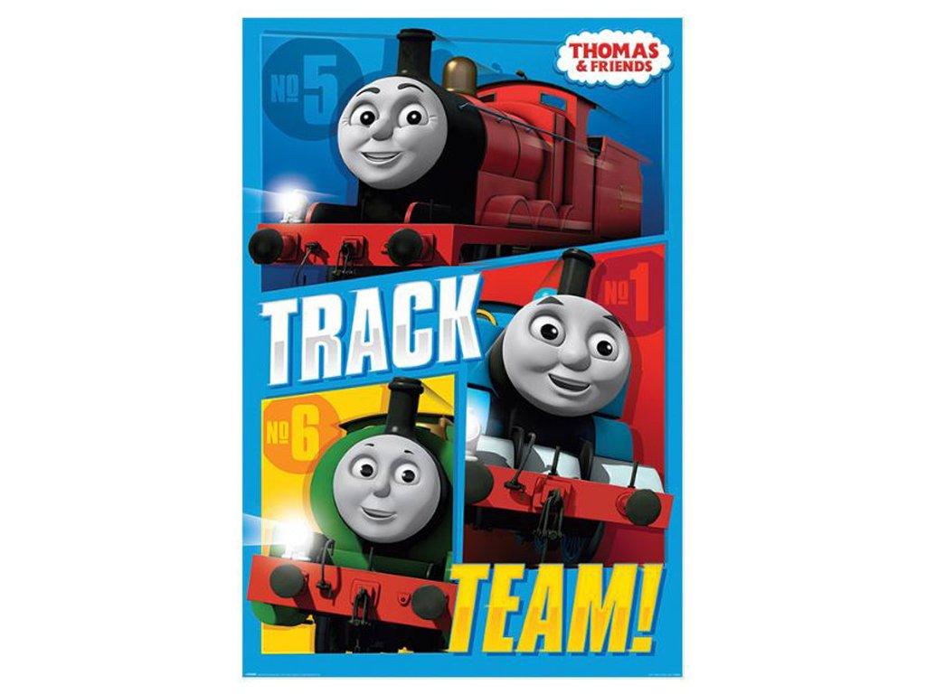 PLAKÁT 61 x 91,5 cm  THOMAS & FRIENDS|TRACK TEAM