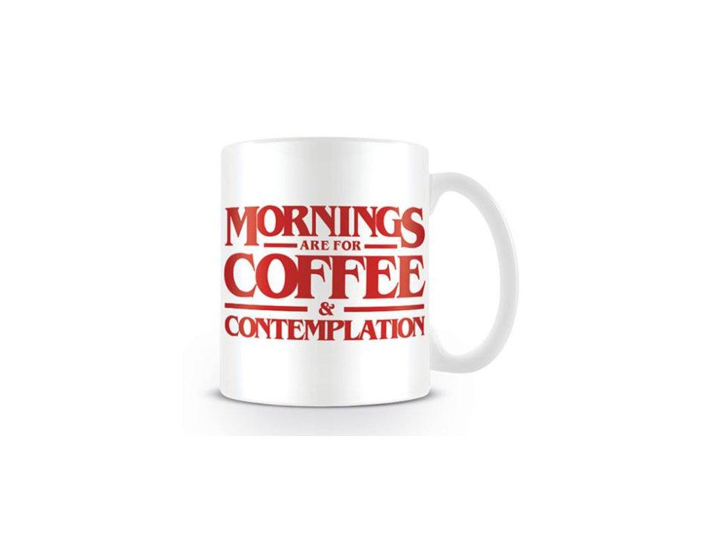 HRNEK KERAMICKÝ|STRANGER THINGS  315 ml|COFFEE AND CONTEMPLATION