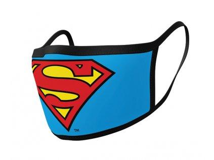 ROUŠKA NA ÚSTA SET 2 KUSŮ  SUPERMAN LOGO
