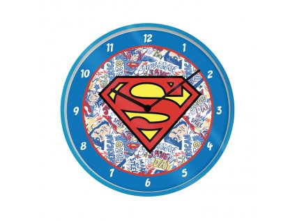 HODINY NÁSTĚNNÉ|DC COMICS  PRŮMĚR 25 cm|SUPERMAN|LOGO