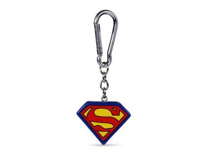 PŘÍVĚSEK NA KLÍČE|SUPERMAN  3D|LOGO|4 x 4 cm