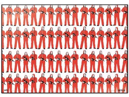 PODLOŽKA NA STŮL LA CASA DE PAPEL  49,5 x 34,5 cm FIGURAS