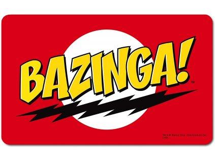 PROSTÍRÁNÍ NA STŮL BIG BANG THEORY  23 x 14 cm BAZINGA! PLASTOVÁ