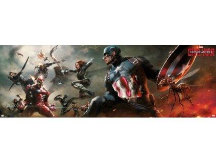 PLAKÁT 53 x 158 cm|MARVEL  CAPTAIN AMERICA|CIVIL WAR