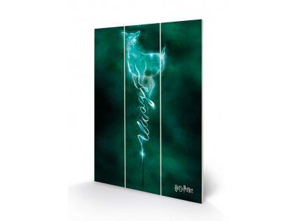 OBRAZ|MALBA NA DŘEVĚ 20 x 29,5 cm  HARRY POTTER|DOE PATRONUS