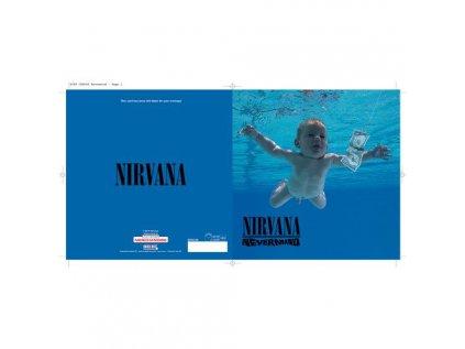 PŘÁNÍČKO 16 x 16 cm  NIRVANA|NEVERMIND ALBUM COVER