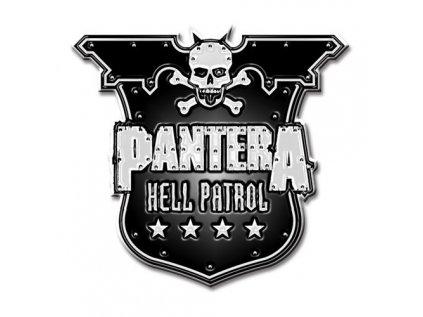 ODZNÁČEK SE ŠPENDLÍKEM|PANTERA  HELL PATROL AHIELD|KOVOVÝ